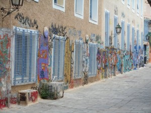Graffiti on the Buildings of Athens
