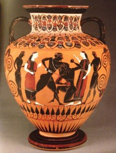 Vase Depicting Theseus and the Minotaur, c. 550 B.C.