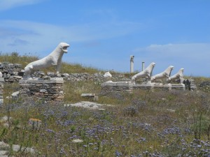 Lions on the Island of Delos
