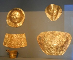 Mycenaean Gold at the Archaeological Museum in Athens