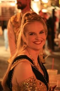 Rebekah Prepares to Go Onstage