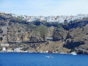 View of Santorini from Our Cruise Ship