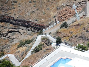 "The Aerial Tramway at Santorini Used in a Scene from ""Buried Riches"""